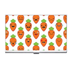 Seamless Background Carrots Emotions Illustration Face Smile Cry Cute Orange Business Card Holders