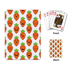 Seamless Background Carrots Emotions Illustration Face Smile Cry Cute Orange Playing Card