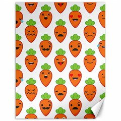 Seamless Background Carrots Emotions Illustration Face Smile Cry Cute Orange Canvas 12  X 16