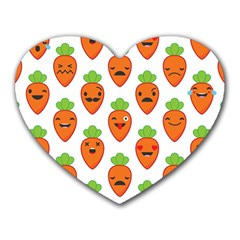 Seamless Background Carrots Emotions Illustration Face Smile Cry Cute Orange Heart Mousepads