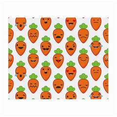 Seamless Background Carrots Emotions Illustration Face Smile Cry Cute Orange Small Glasses Cloth (2 Side)