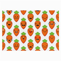 Seamless Background Carrots Emotions Illustration Face Smile Cry Cute Orange Large Glasses Cloth (2 Side)