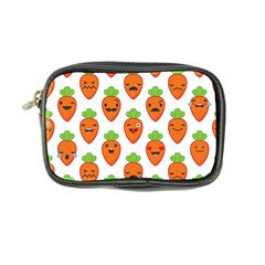 Seamless Background Carrots Emotions Illustration Face Smile Cry Cute Orange Coin Purse