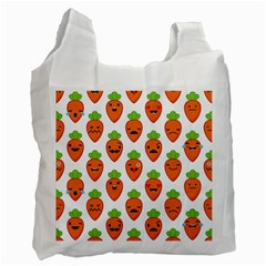 Seamless Background Carrots Emotions Illustration Face Smile Cry Cute Orange Recycle Bag (one Side)