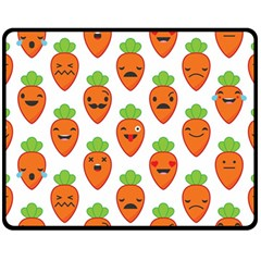 Seamless Background Carrots Emotions Illustration Face Smile Cry Cute Orange Fleece Blanket (medium)