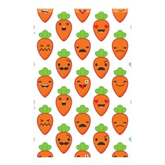 Seamless Background Carrots Emotions Illustration Face Smile Cry Cute Orange Shower Curtain 48  X 72  (small)