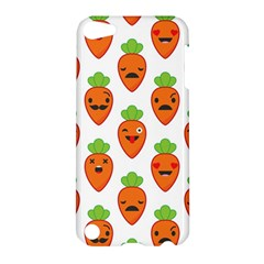Seamless Background Carrots Emotions Illustration Face Smile Cry Cute Orange Apple Ipod Touch 5 Hardshell Case