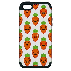 Seamless Background Carrots Emotions Illustration Face Smile Cry Cute Orange Apple Iphone 5 Hardshell Case (pc+silicone)