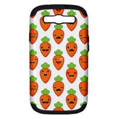 Seamless Background Carrots Emotions Illustration Face Smile Cry Cute Orange Samsung Galaxy S Iii Hardshell Case (pc+silicone)