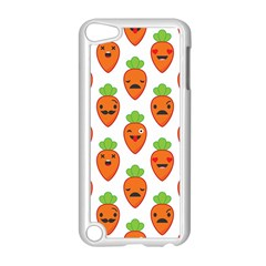 Seamless Background Carrots Emotions Illustration Face Smile Cry Cute Orange Apple Ipod Touch 5 Case (white)