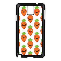 Seamless Background Carrots Emotions Illustration Face Smile Cry Cute Orange Samsung Galaxy Note 3 N9005 Case (black)