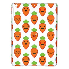 Seamless Background Carrots Emotions Illustration Face Smile Cry Cute Orange Ipad Air Hardshell Cases