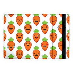 Seamless Background Carrots Emotions Illustration Face Smile Cry Cute Orange Samsung Galaxy Tab Pro 10 1  Flip Case