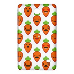 Seamless Background Carrots Emotions Illustration Face Smile Cry Cute Orange Samsung Galaxy Tab 4 (7 ) Hardshell Case
