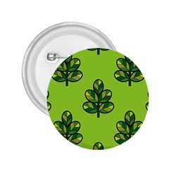 Seamless Background Green Leaves Black Outline 2 25  Buttons