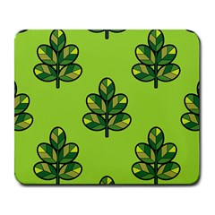 Seamless Background Green Leaves Black Outline Large Mousepads