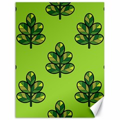 Seamless Background Green Leaves Black Outline Canvas 18  X 24