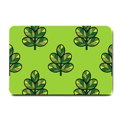 Seamless Background Green Leaves Black Outline Small Doormat