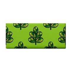 Seamless Background Green Leaves Black Outline Cosmetic Storage Cases