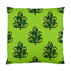 Seamless Background Green Leaves Black Outline Standard Cushion Case (two Sides)