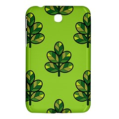 Seamless Background Green Leaves Black Outline Samsung Galaxy Tab 3 (7 ) P3200 Hardshell Case