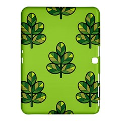 Seamless Background Green Leaves Black Outline Samsung Galaxy Tab 4 (10 1 ) Hardshell Case