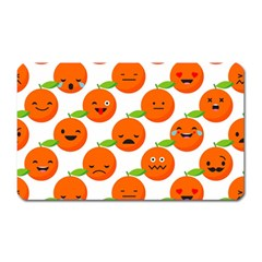 Seamless Background Orange Emotions Illustration Face Smile  Mask Fruits Magnet (rectangular)