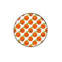 Seamless Background Orange Emotions Illustration Face Smile  Mask Fruits Hat Clip Ball Marker (10 Pack)