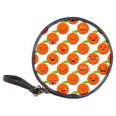 Seamless Background Orange Emotions Illustration Face Smile  Mask Fruits Classic 20 Cd Wallets