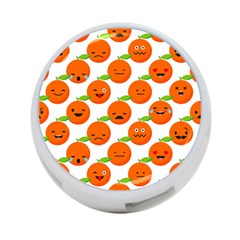 Seamless Background Orange Emotions Illustration Face Smile  Mask Fruits 4 Port Usb Hub (one Side)