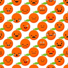 Seamless Background Orange Emotions Illustration Face Smile  Mask Fruits Magic Photo Cubes