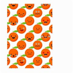 Seamless Background Orange Emotions Illustration Face Smile  Mask Fruits Large Garden Flag (two Sides)