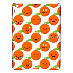 Seamless Background Orange Emotions Illustration Face Smile  Mask Fruits Ipad Air Hardshell Cases