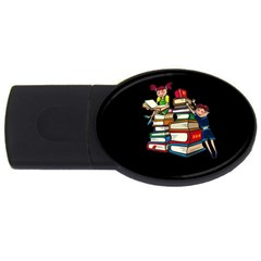 Back To School Usb Flash Drive Oval (2 Gb)