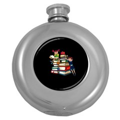 Back To School Round Hip Flask (5 Oz)