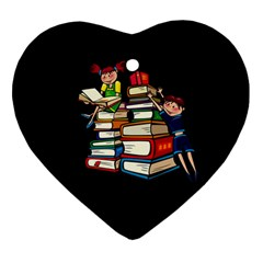 Back To School Heart Ornament (two Sides)