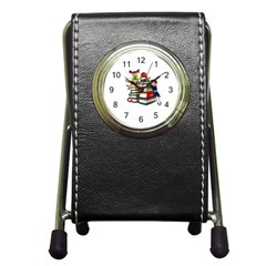 Back To School Pen Holder Desk Clocks