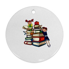 Back To School Round Ornament (two Sides)