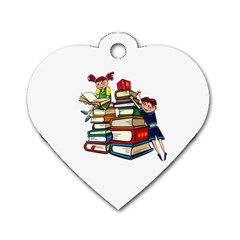 Back To School Dog Tag Heart (one Side)