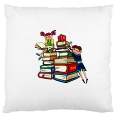 Back To School Large Flano Cushion Case (one Side)