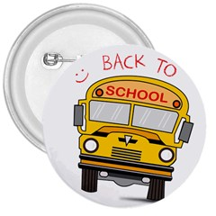 Back To School   School Bus 3  Buttons