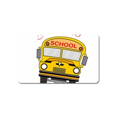 Back To School   School Bus Magnet (name Card)