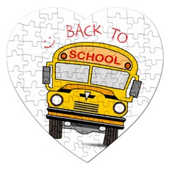 Back To School   School Bus Jigsaw Puzzle (heart)