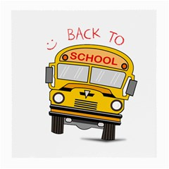 Back To School   School Bus Medium Glasses Cloth (2 Side)