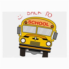 Back To School   School Bus Large Glasses Cloth (2 Side)