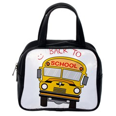 Back To School   School Bus Classic Handbags (one Side)