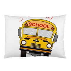 Back To School   School Bus Pillow Case