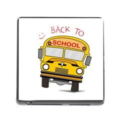 Back To School   School Bus Memory Card Reader (square)
