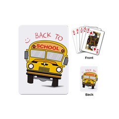 Back To School   School Bus Playing Cards (mini)