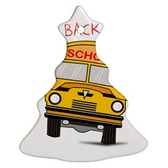Back To School   School Bus Christmas Tree Ornament (two Sides)